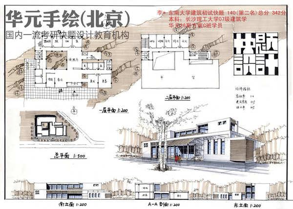 快题作品-建筑快题作品-华元手绘官网|手绘培训|快题